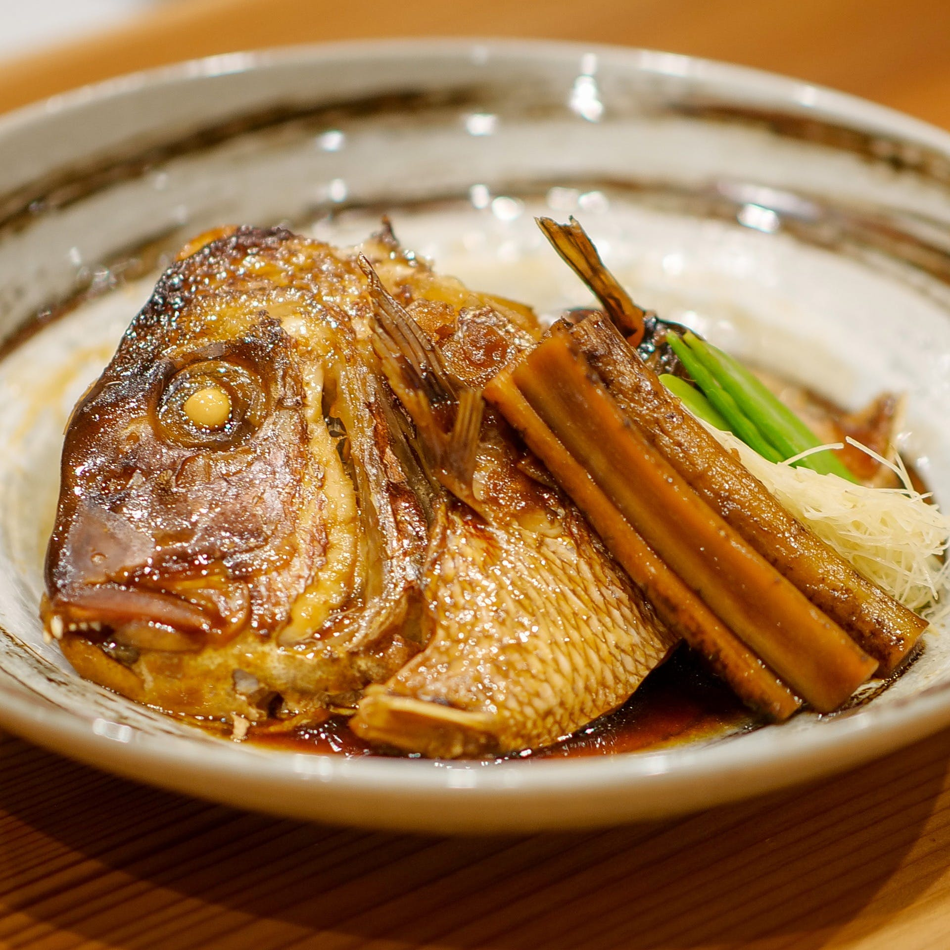 名物「鯛のあら炊き」