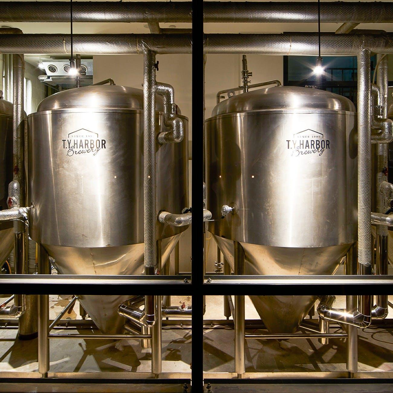 併設の醸造所で作るTY自慢のクラフトビール