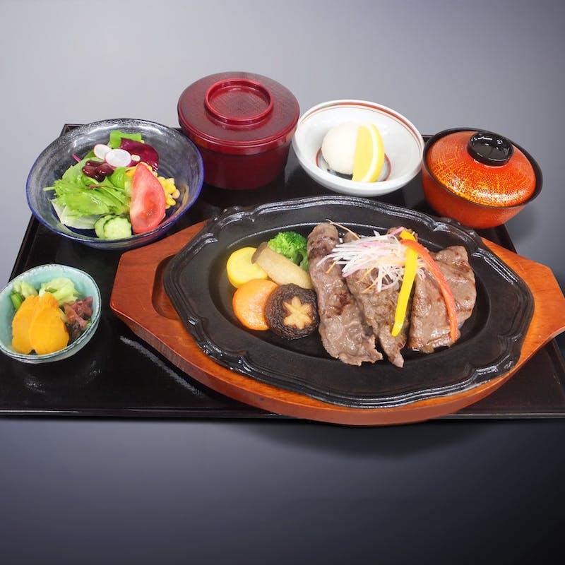 【期間限定!らん月夜ご飯】薄切り和牛ステーキ御膳+1ドリンク
