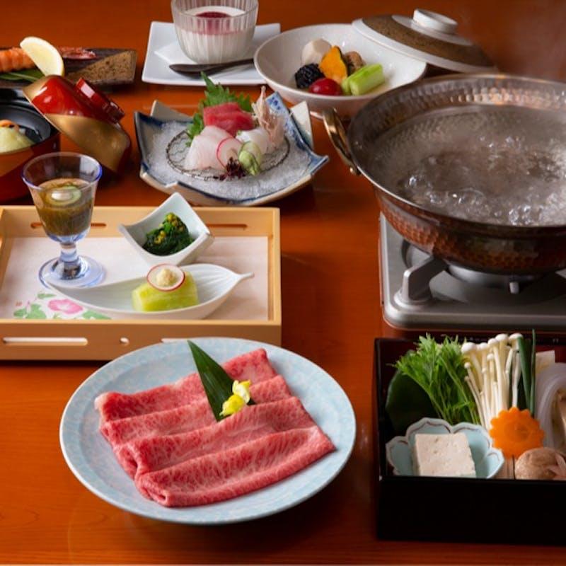 【旬菜小鍋会席】すき焼きなど選べる小鍋、お造り、季節の先付など やりやコース全7品+1ドリンク