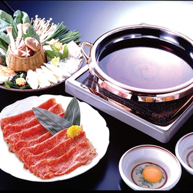 【すきしゃぶしゃぶ】季節の前菜、お食事、デザート含む全6品+1ドリンク(梅コース)
