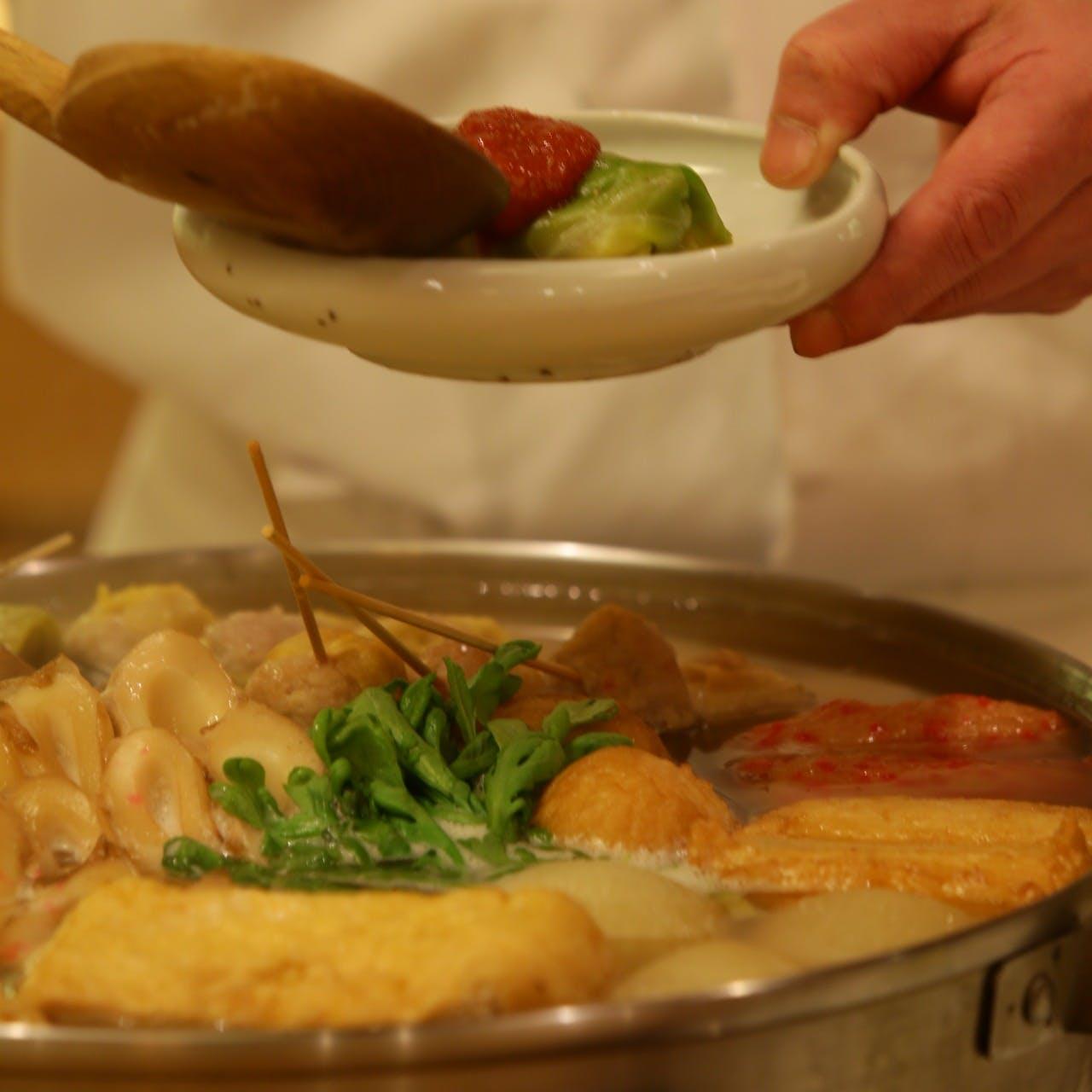 季節の一品料理と独創的なおでんの数々が繰り広げる格別のひととき