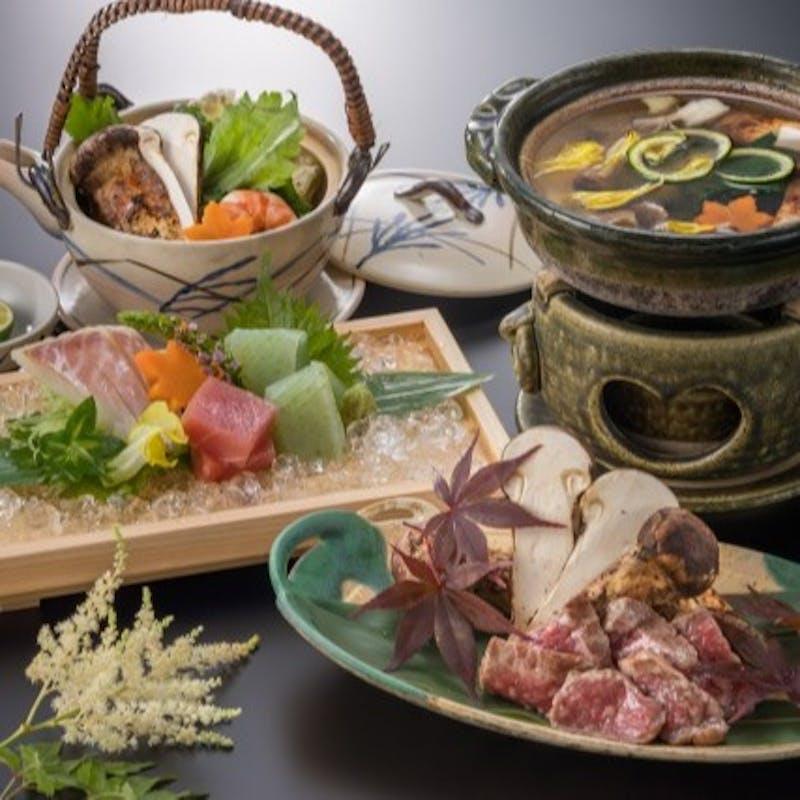 【桜会席】先付、焼八寸、揚物、強肴など全8品+1ドリンク(平日限定)