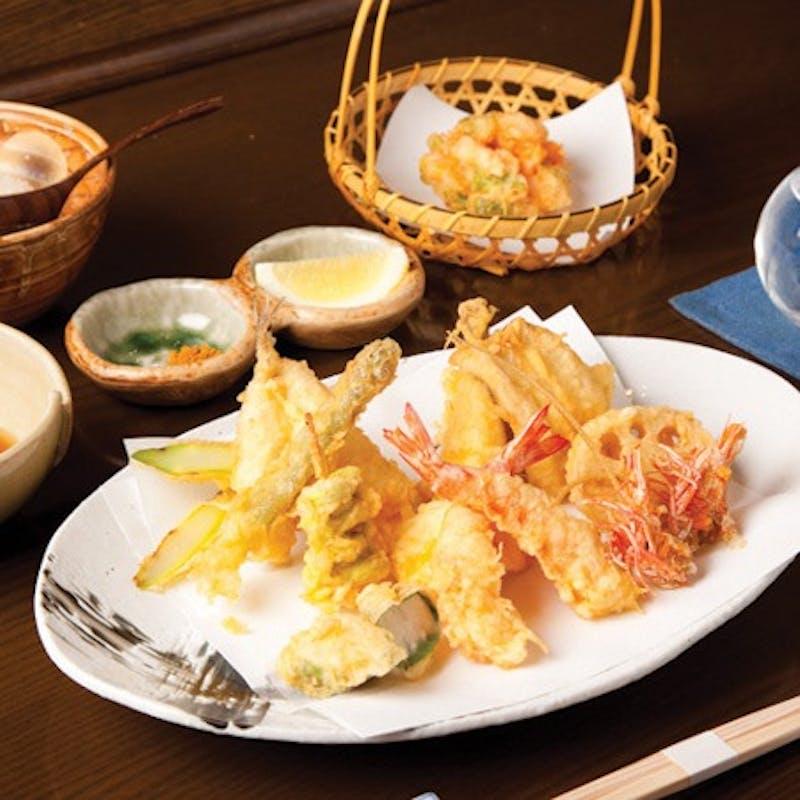 【天ぷら魚新ランチ定番のコース】天ぷら8品