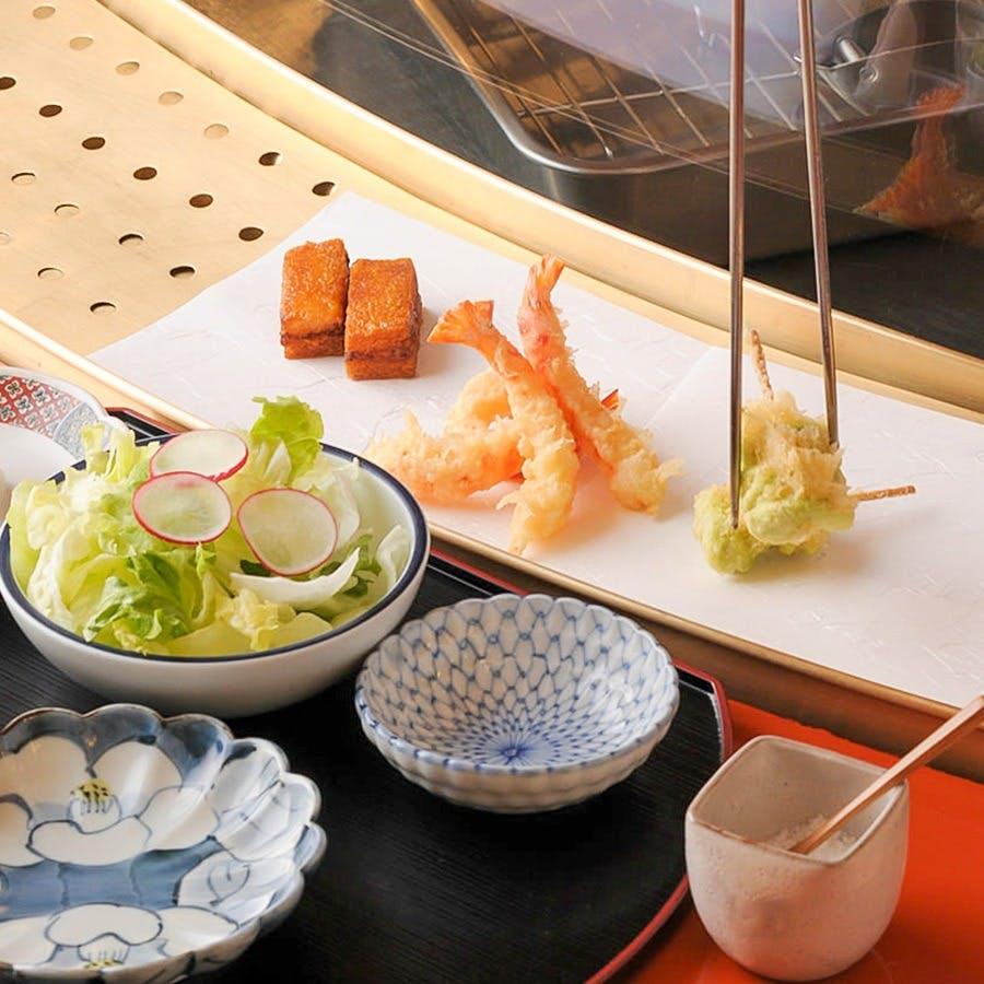 一つ一つ揚げたての江戸前天ぷらを