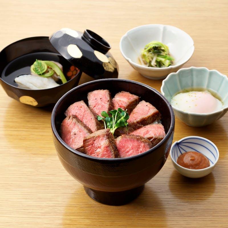 【料亭の味を堪能】選べる浅田のお刺身丼or和牛ステーキ丼など全5品