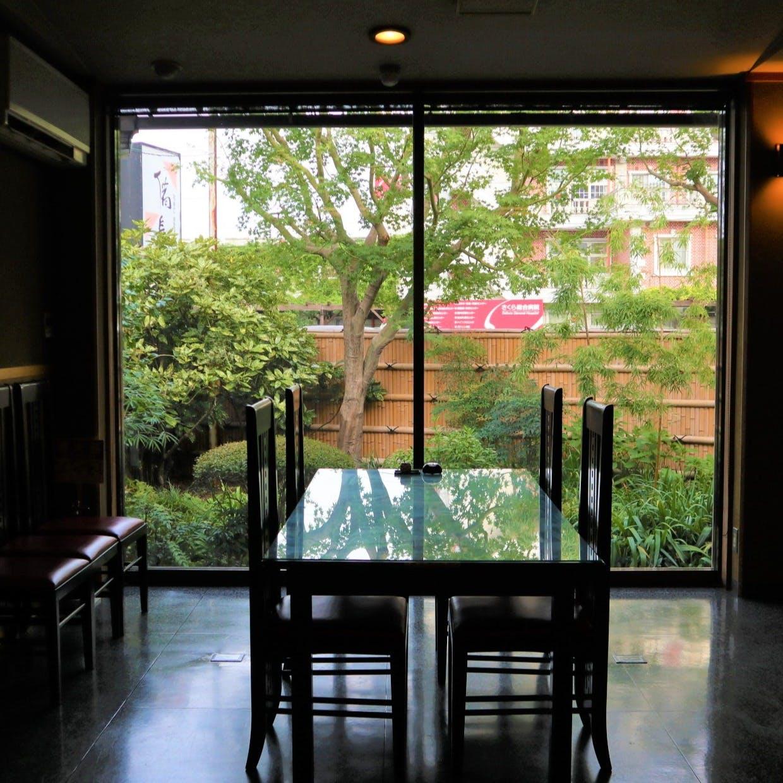 日本庭園を眺めながらひつまぶしを