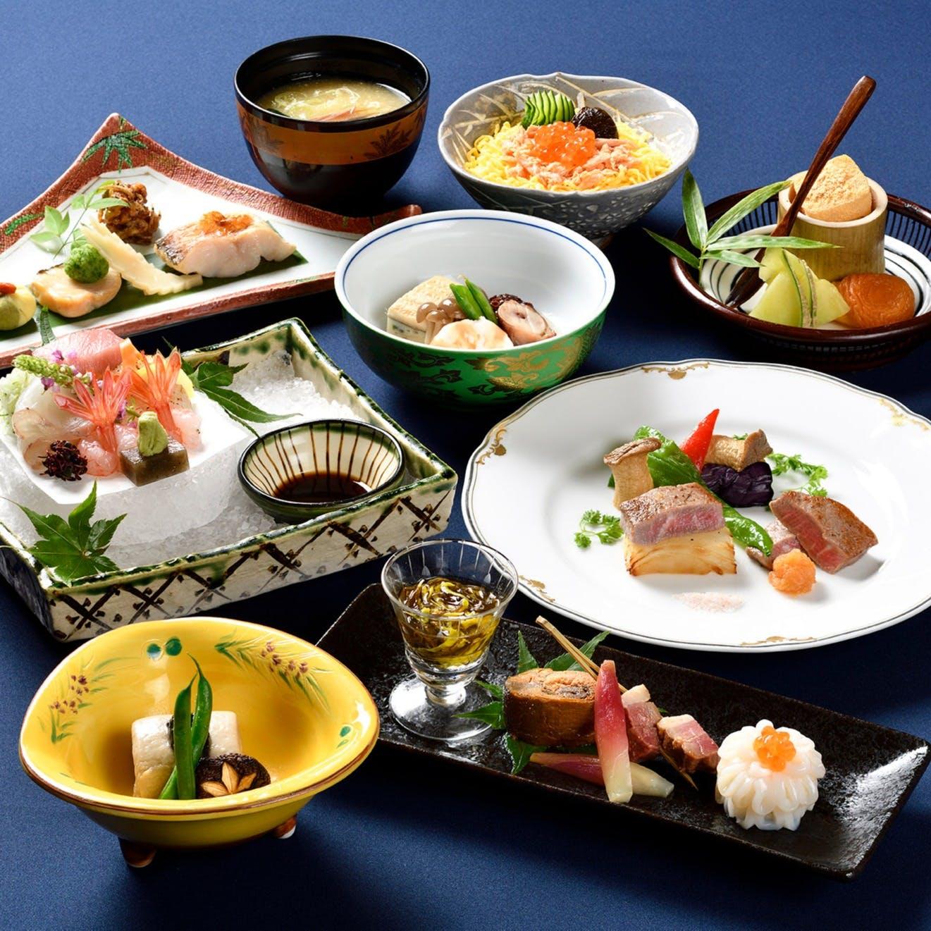 新潟ならではの食材を使用、料理長が作る繊細なお料理に舌鼓を