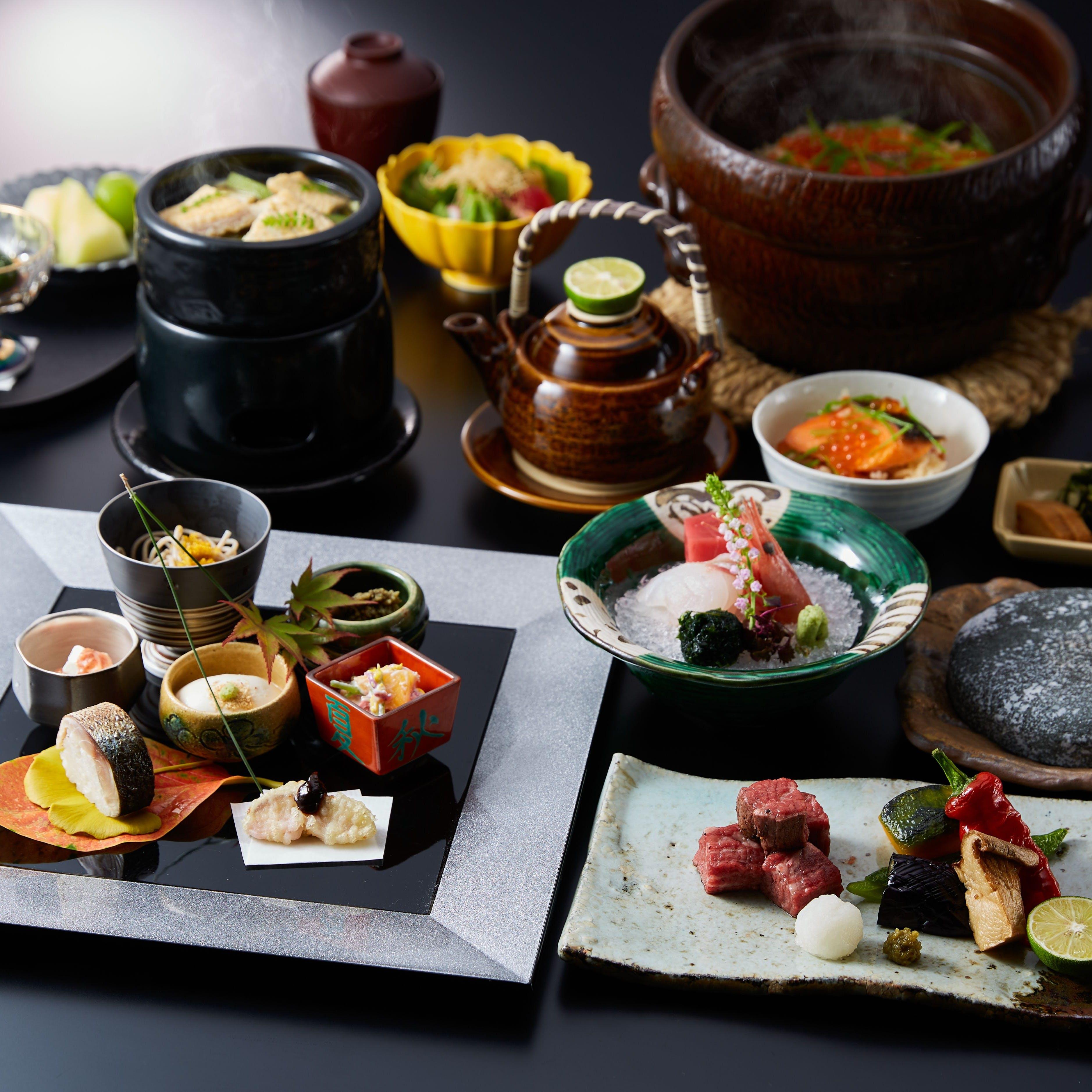 日本各地の旬を取りそろえた会席料理
