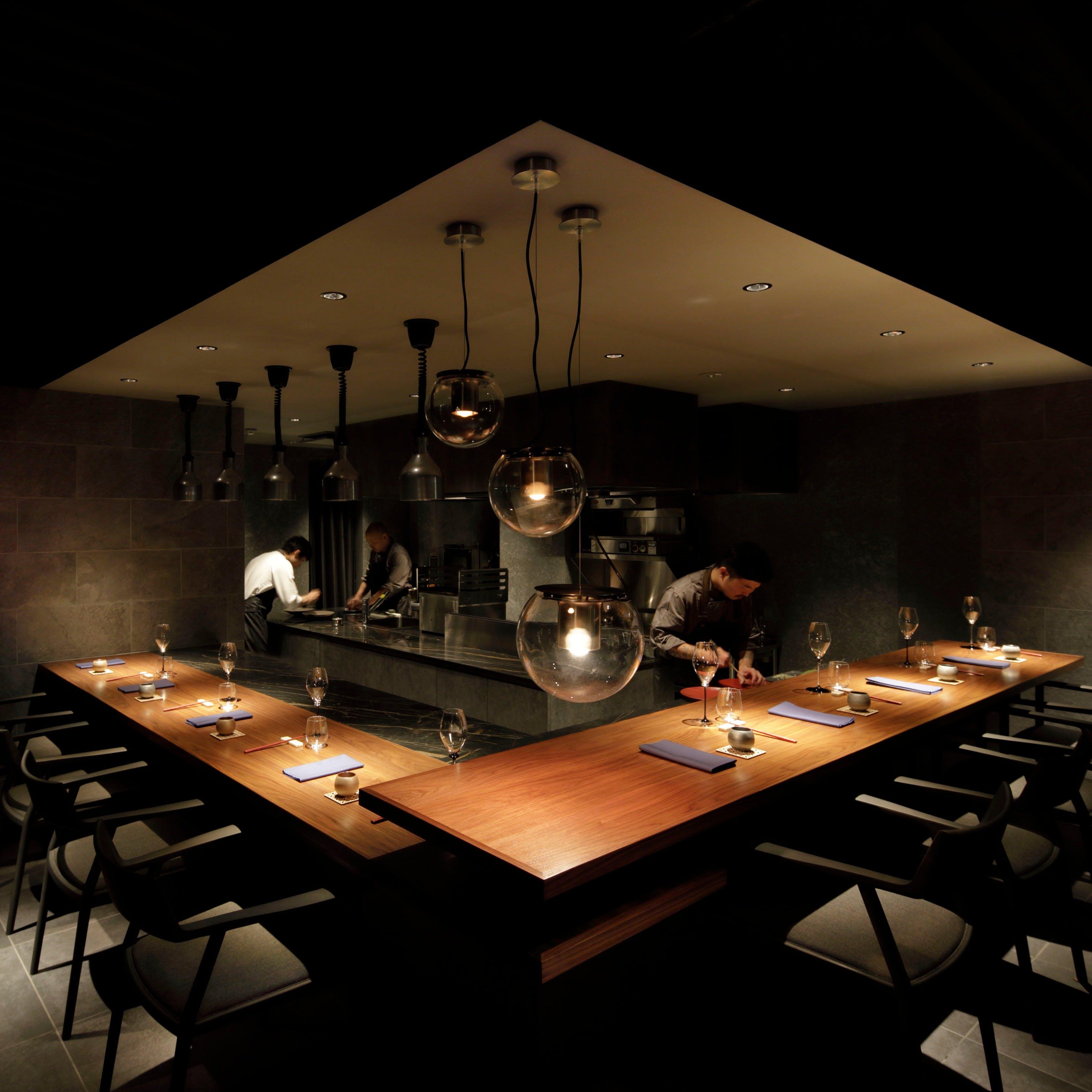 ライブ感満載のオープンキッチン