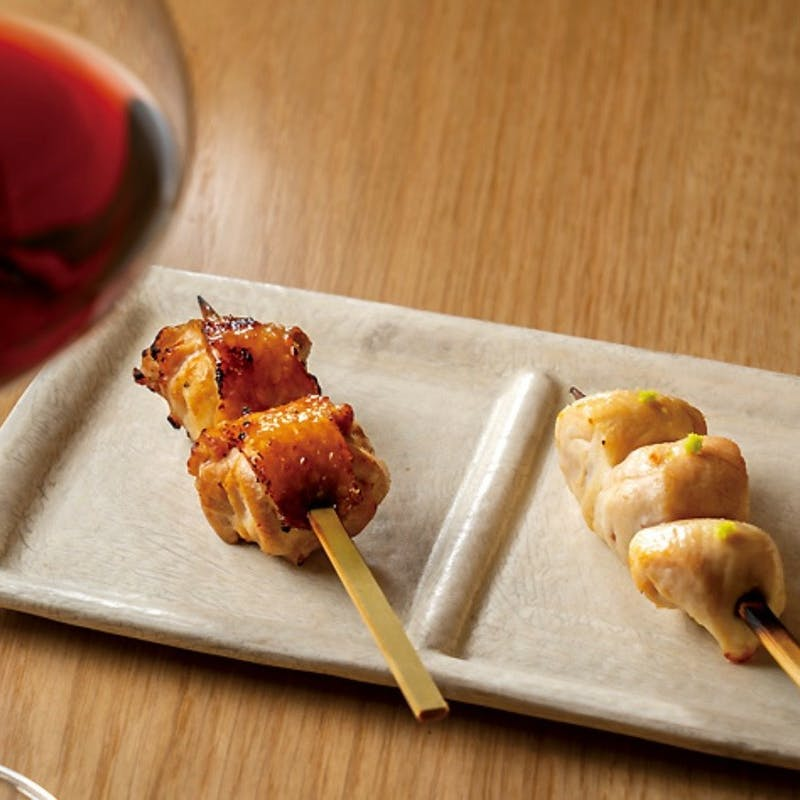 【鶯コース】伊達鶏の串やラム、牛ハラミなど串焼きメインの全11品