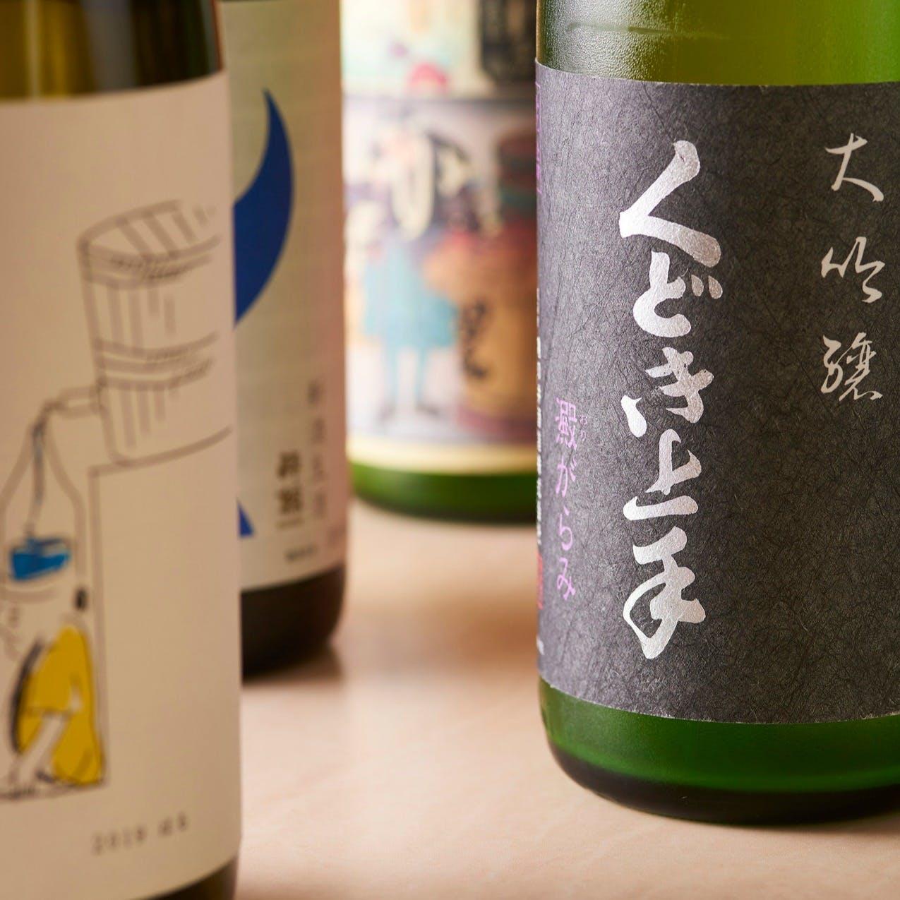 豊富なラインナップの日本酒