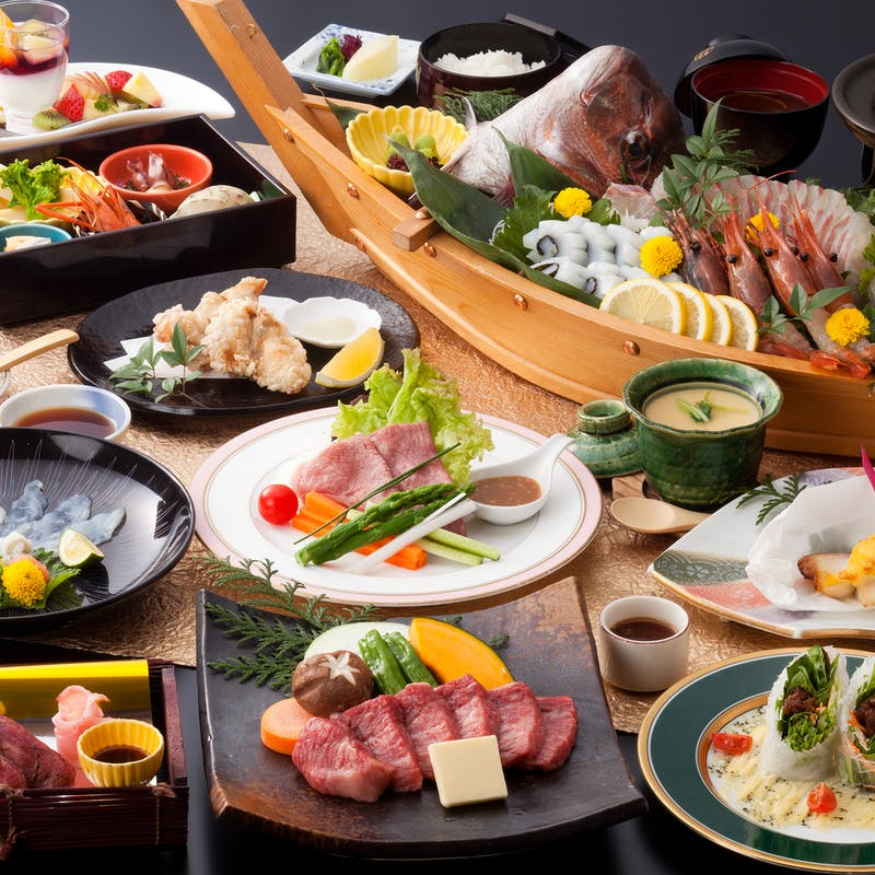 【神戸牛会席~極~】食前酒付 炙り寿司、神戸牛ステーキなど全13品