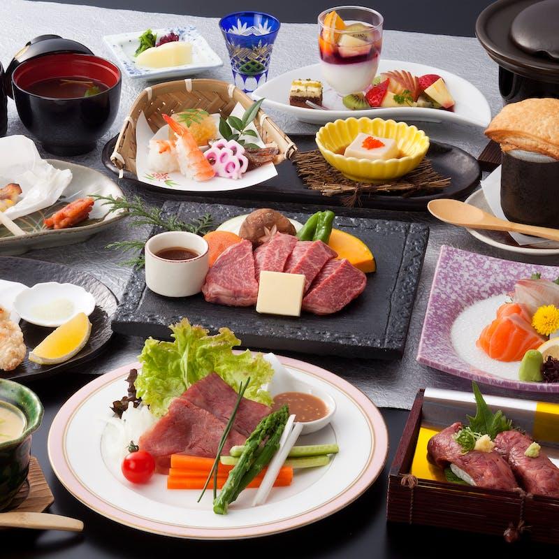 【神戸牛会席~華~】食前酒付 炙り寿司、神戸牛ステーキなど全11品