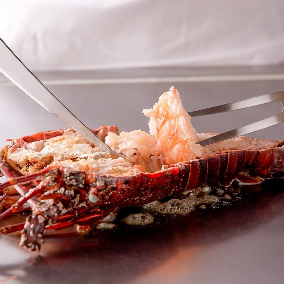 厳しく吟味された最高の食材本来の味を堪能、これぞ鉄板焼の醍醐味