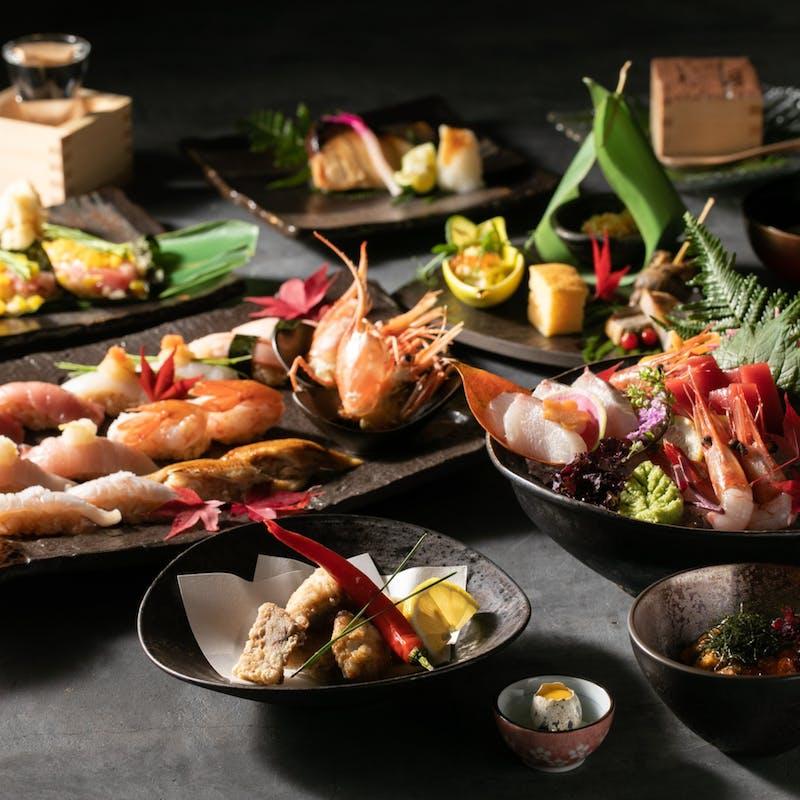 【茎コース】八寸、焼物、寿司6貫、甘味など全8品(個室確約/リクエスト予約)