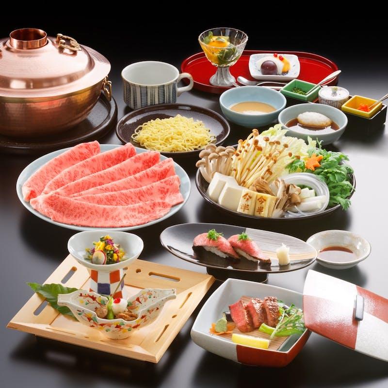 【牛肉三昧コース】ミニ網焼ステーキ、しゃぶしゃぶなど全7品(特撰)