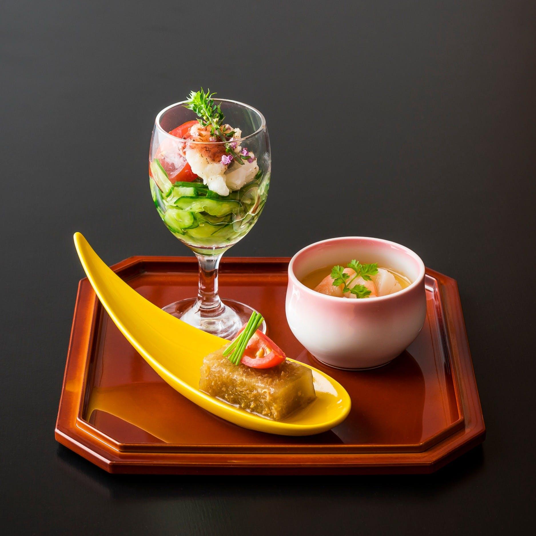 新しい形の日本料理を追求する萌木のランチ