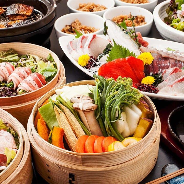 「京風おでん」をはじめ、山・海・里より取り揃えた厳選食材の和食