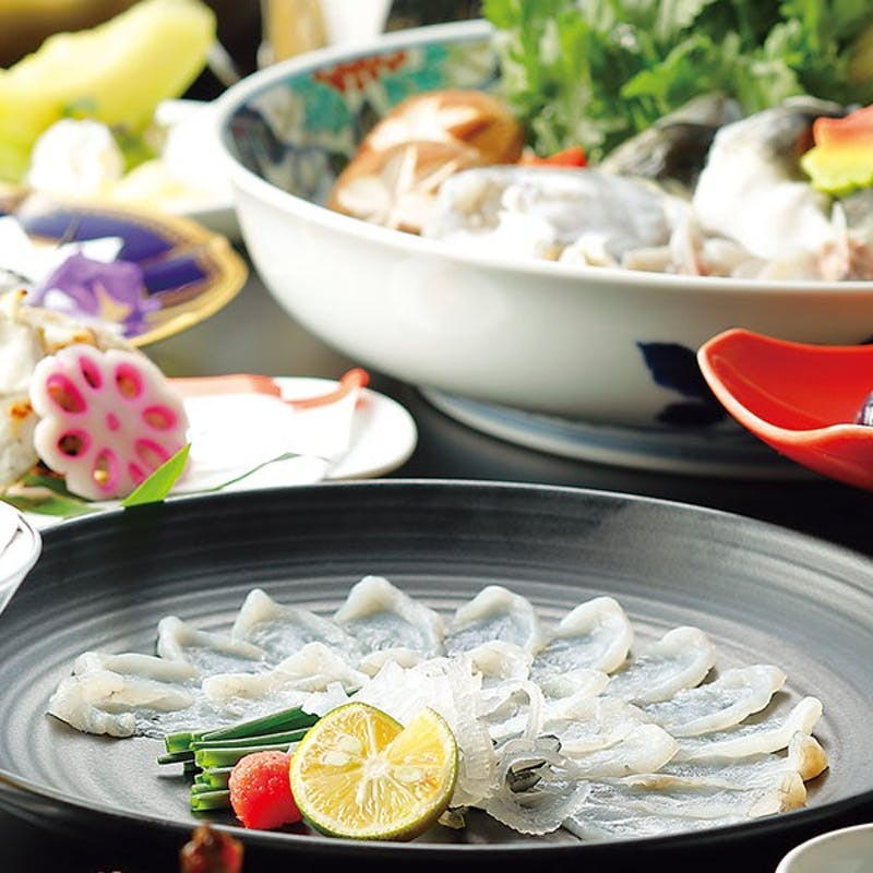 【栃木県産 温泉とらふぐ会席】温泉とらふぐてっちり鍋、唐揚げ、煮こごり等全8品