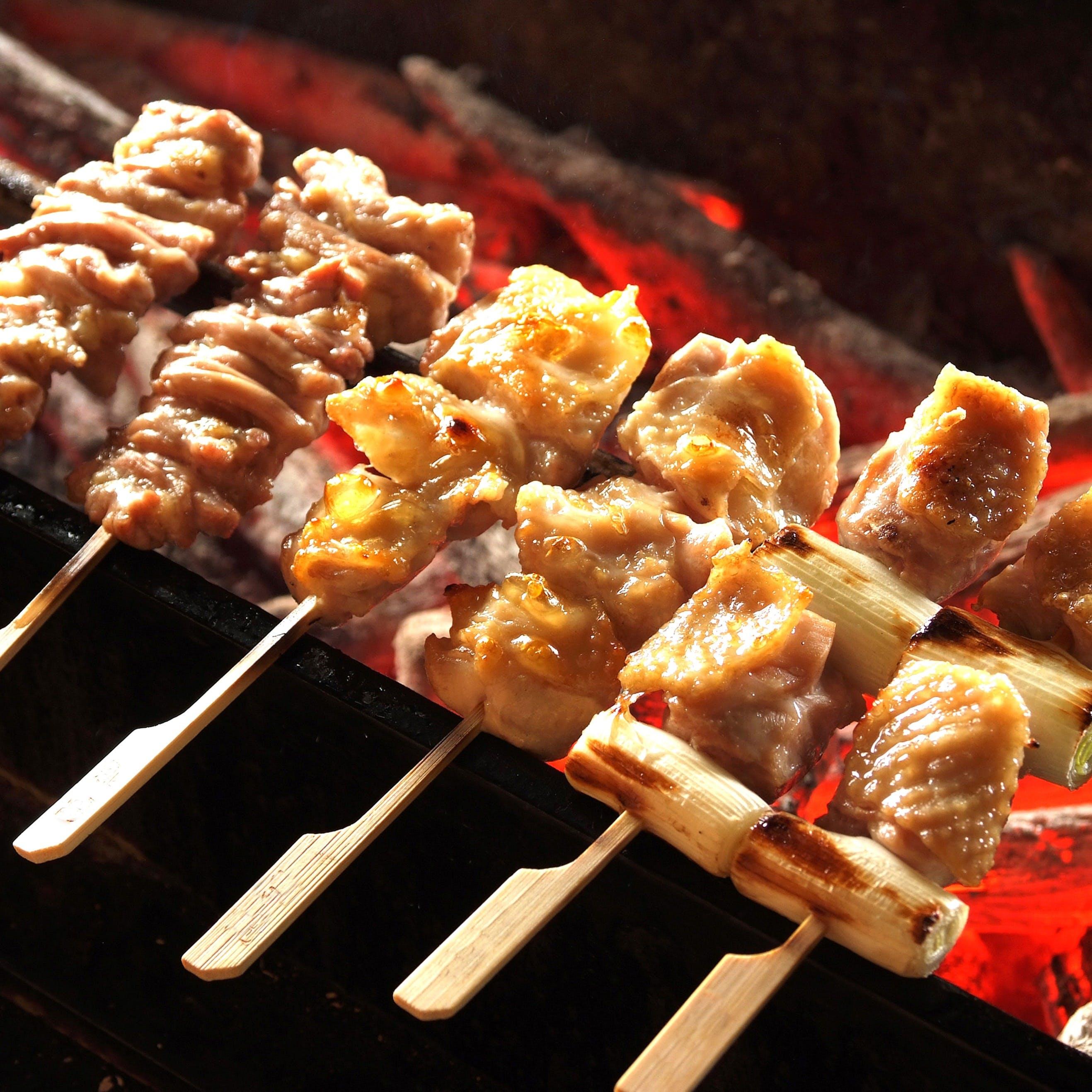 「みつせ鶏の串焼き」