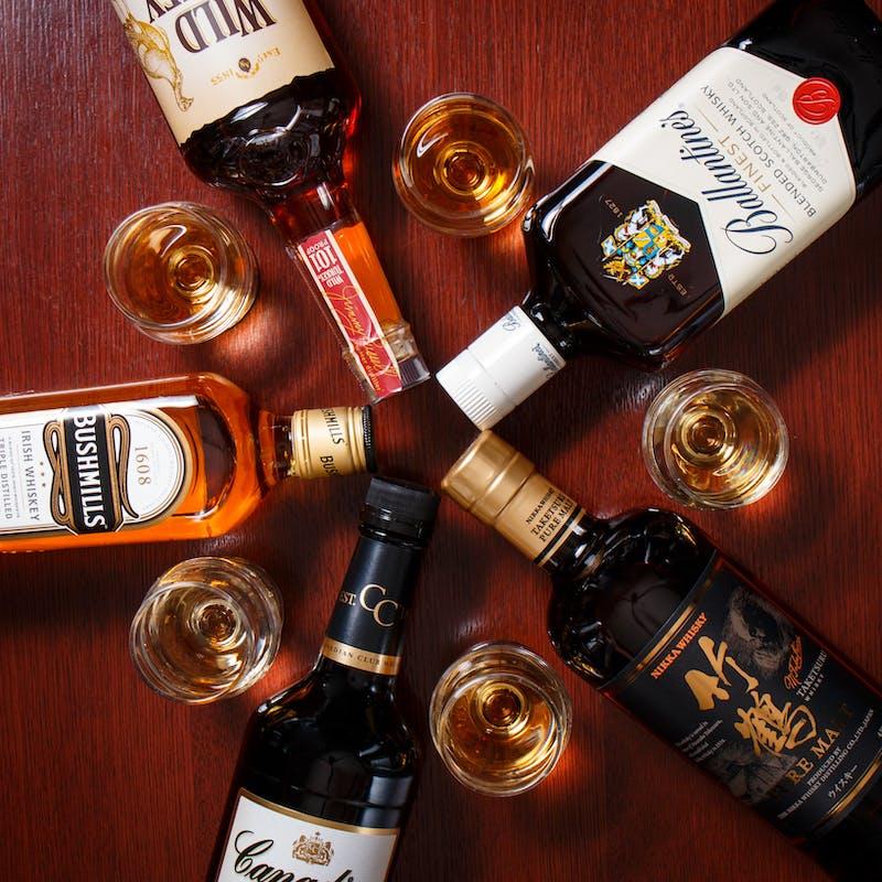 【ハッピーアワープラン】限定ドリンクメニュー3種+メニュー内ウイスキーがグレードアップ(17時~19時)