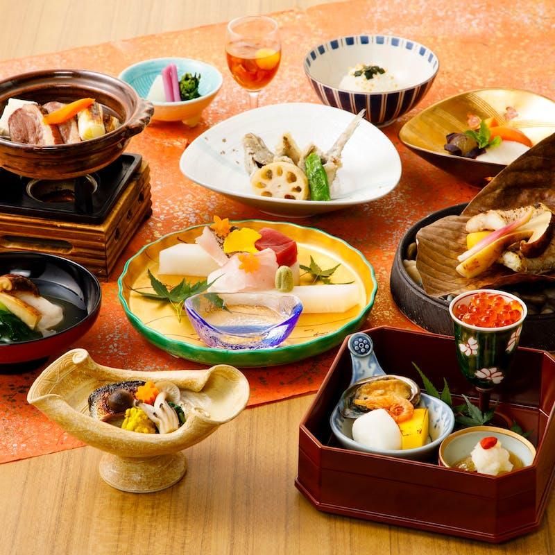 【風会席】前八寸、お椀、お造り、焼物、強肴など全8品