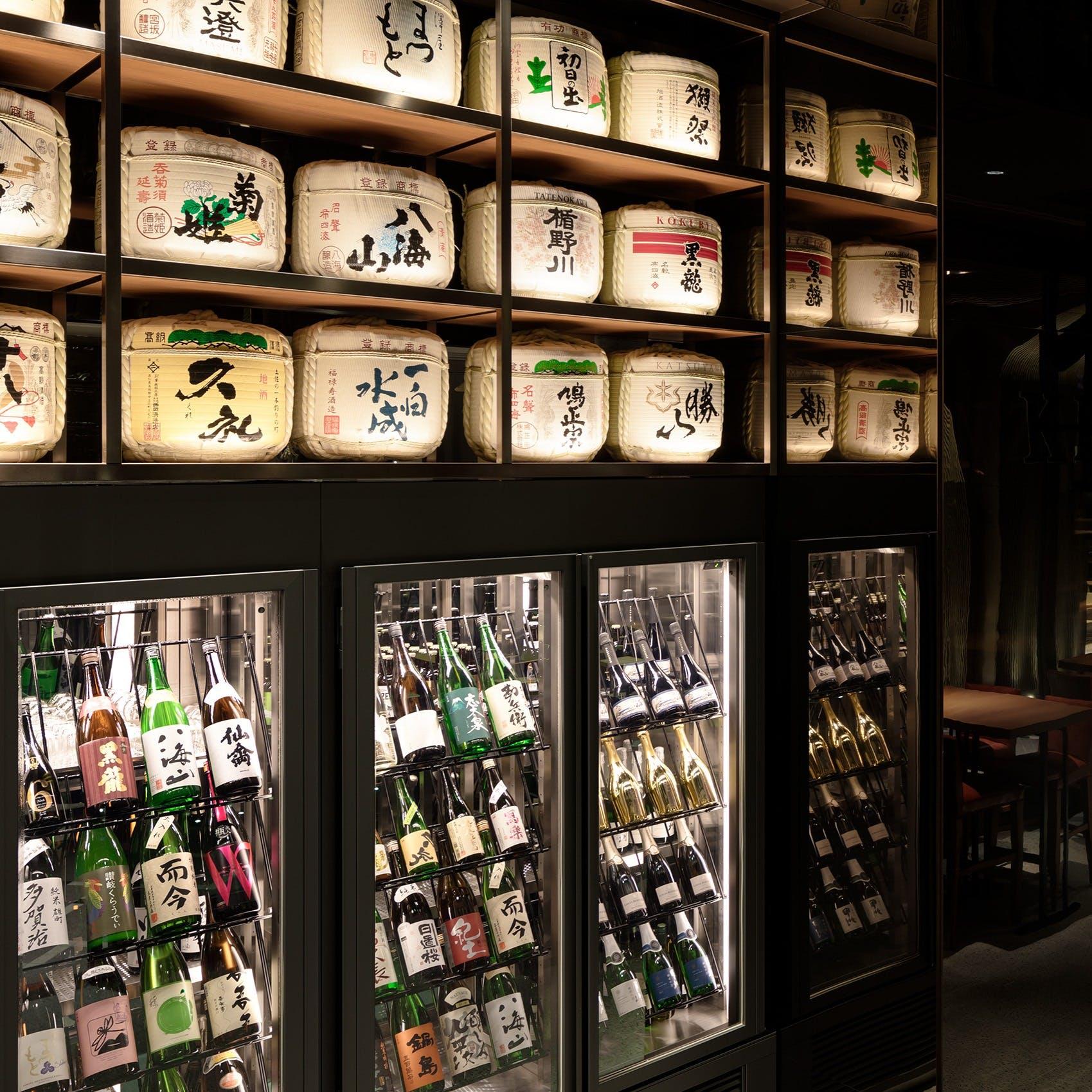 豊富に取りそろえる日本酒