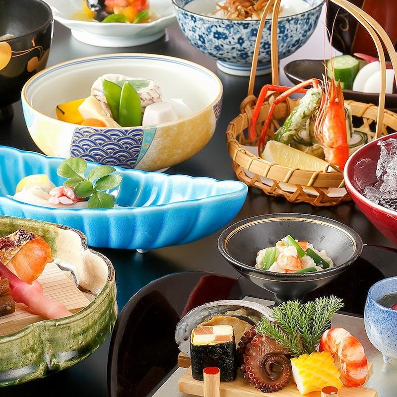 【八坂】前菜、造り三種、煮物替わり、揚物など全9品(個室確約・リクエスト予約)