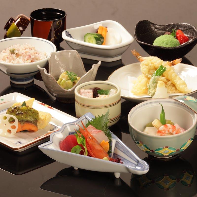 【池鯉鮒(ちりふ)】前菜、椀盛、八寸、お食事など全7品(平日限定・個室確約)