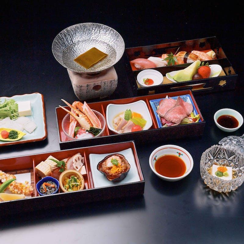 【非接触型会席<桂>】前菜、八寸、握り寿司や水物など全5品(個室確約・リクエスト予約)