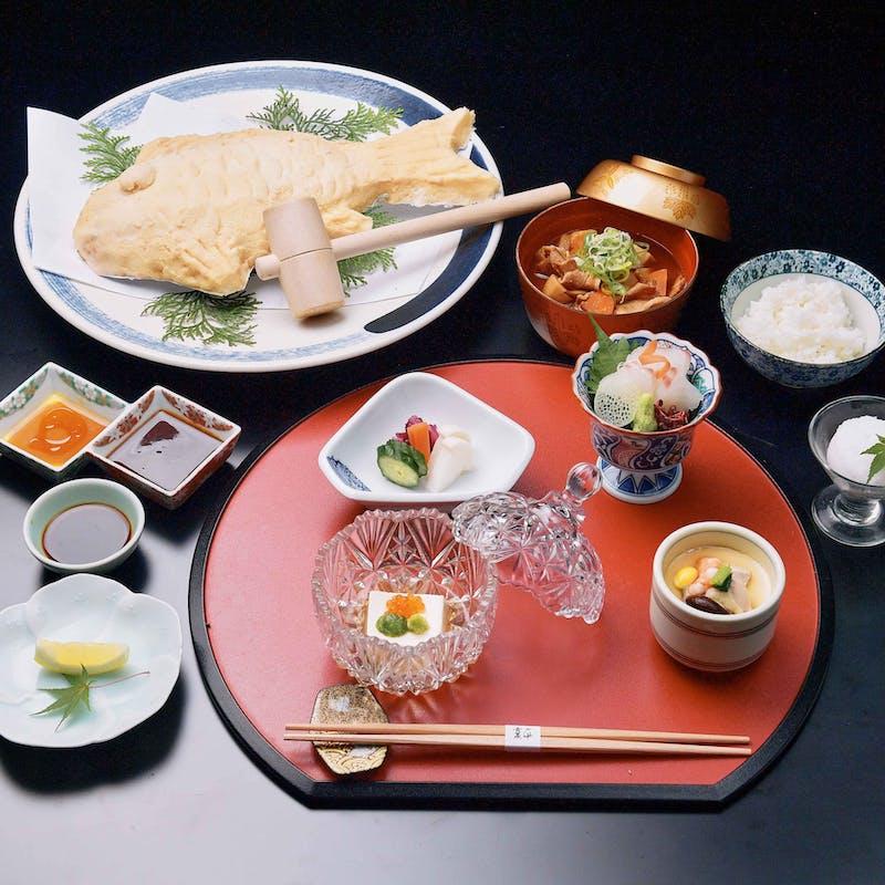 【鯛の太閤焼き御膳 ~三河の豊かな食材を食べる~】造り、焼き物など全8品(個室確約)