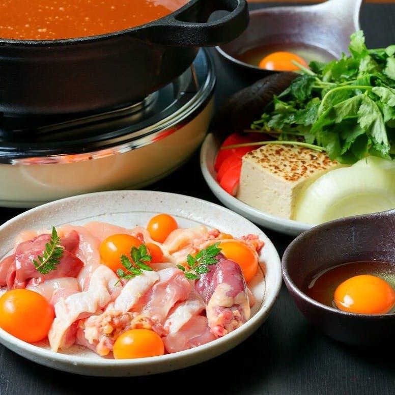 すき焼き仕立ての奥三河鶏味噌鍋