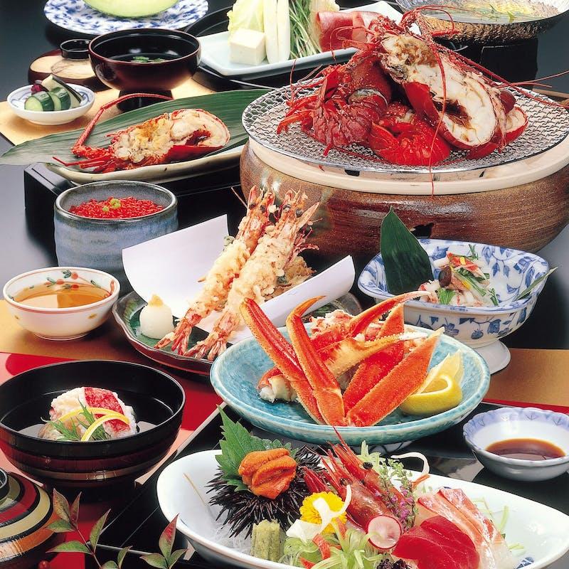 【かに会席<ちとせ>】ズワイかに造り、かに天ぷらなど全10品(個室確約)