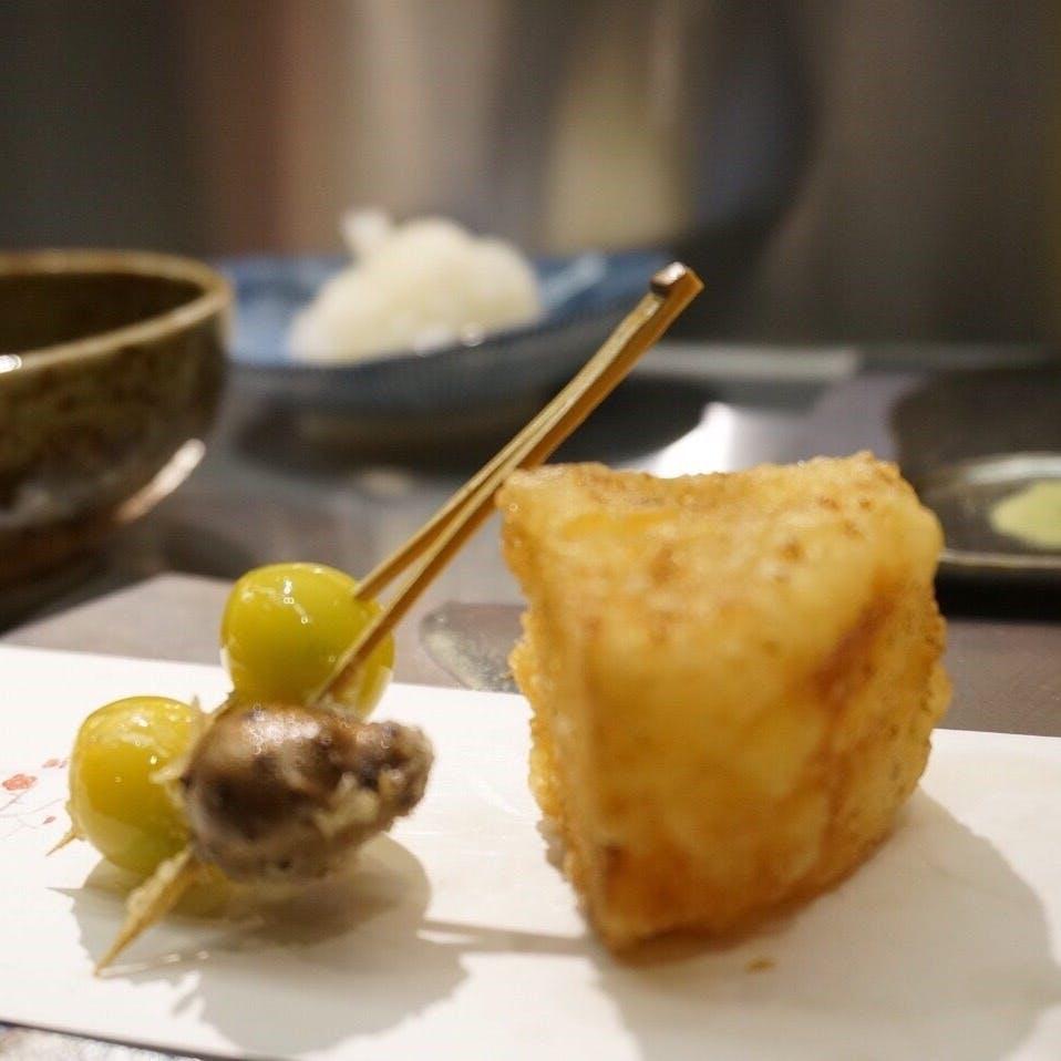 シャンパンで楽しむ天ぷら