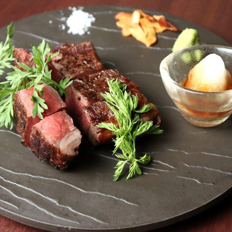 【シェフおすすめコース】山形牛赤身ステーキなど全8品