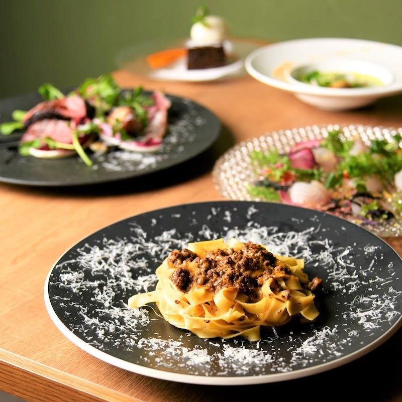 【スペシャルディナーコース】特選パスタ、お魚料理、牛フィレ肉など全7品
