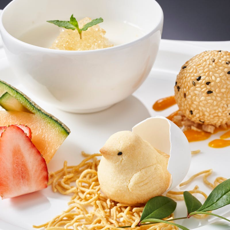 【水綾閣アフタヌーン飲茶】選べる中国茶付き 点心・麺飯・選べるデザートなど