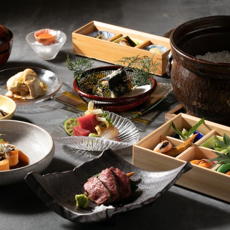 【茎 NAKAGO】先附、鮮魚、強肴、米沢牛など全8品