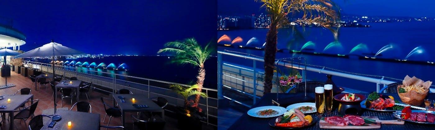 屋上アウトドアバーベキュー 星/琵琶湖ホテル