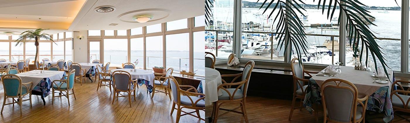 ベイサイド レストラン カフェ モア/佐島マリーナホテル