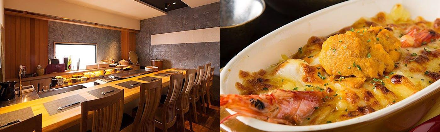 雲丹と海老の専門店 魚漁魚 西中洲