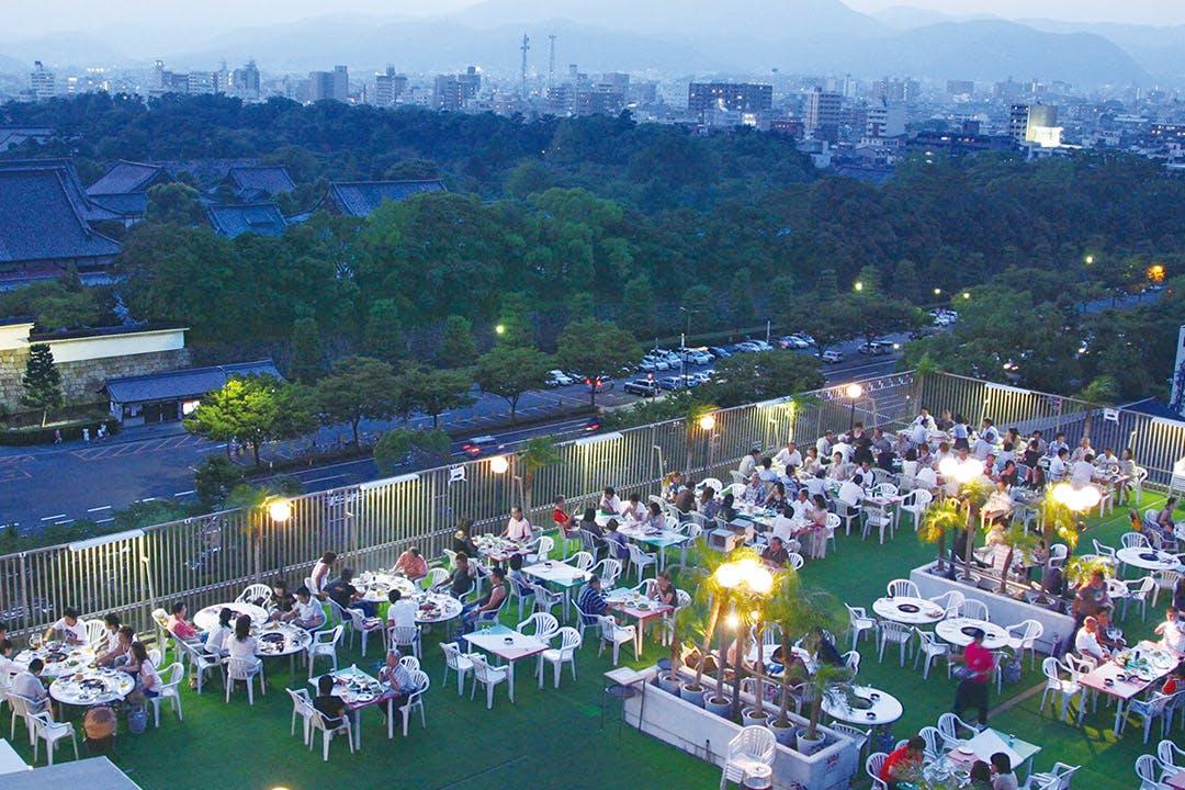 ビアガーデン スカイバル ANAクラウンプラザホテル京都