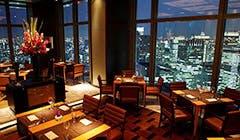 夜景が見えるレストラン